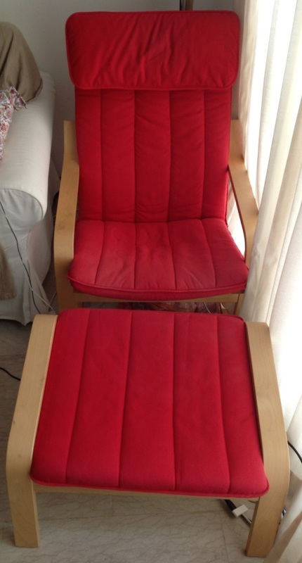 Moving sale home furniture and stuff - Red poang chair ...